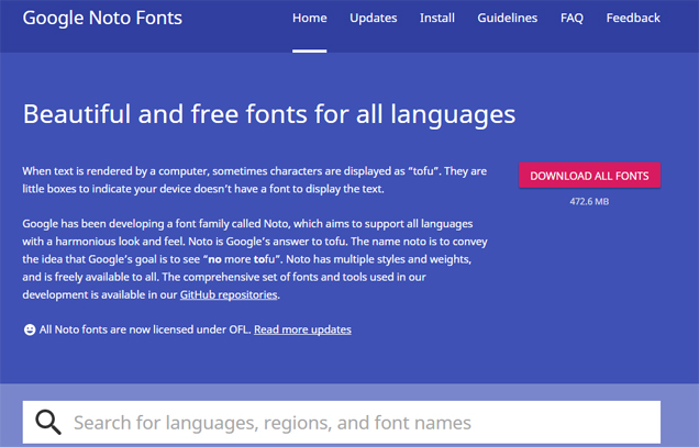 google-free-font